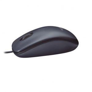 עכבר חוטי Logitech M100 בצבע אפור