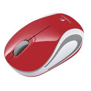 עכבר אלחוטי Logitech Mini M187 Retail אדום